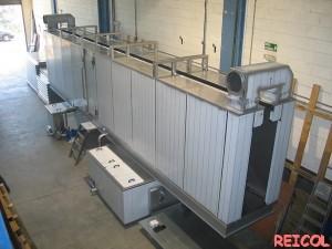 instalaciones de pintura - túnel de desengrase